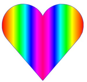 Rainbow Heart for music for the healing